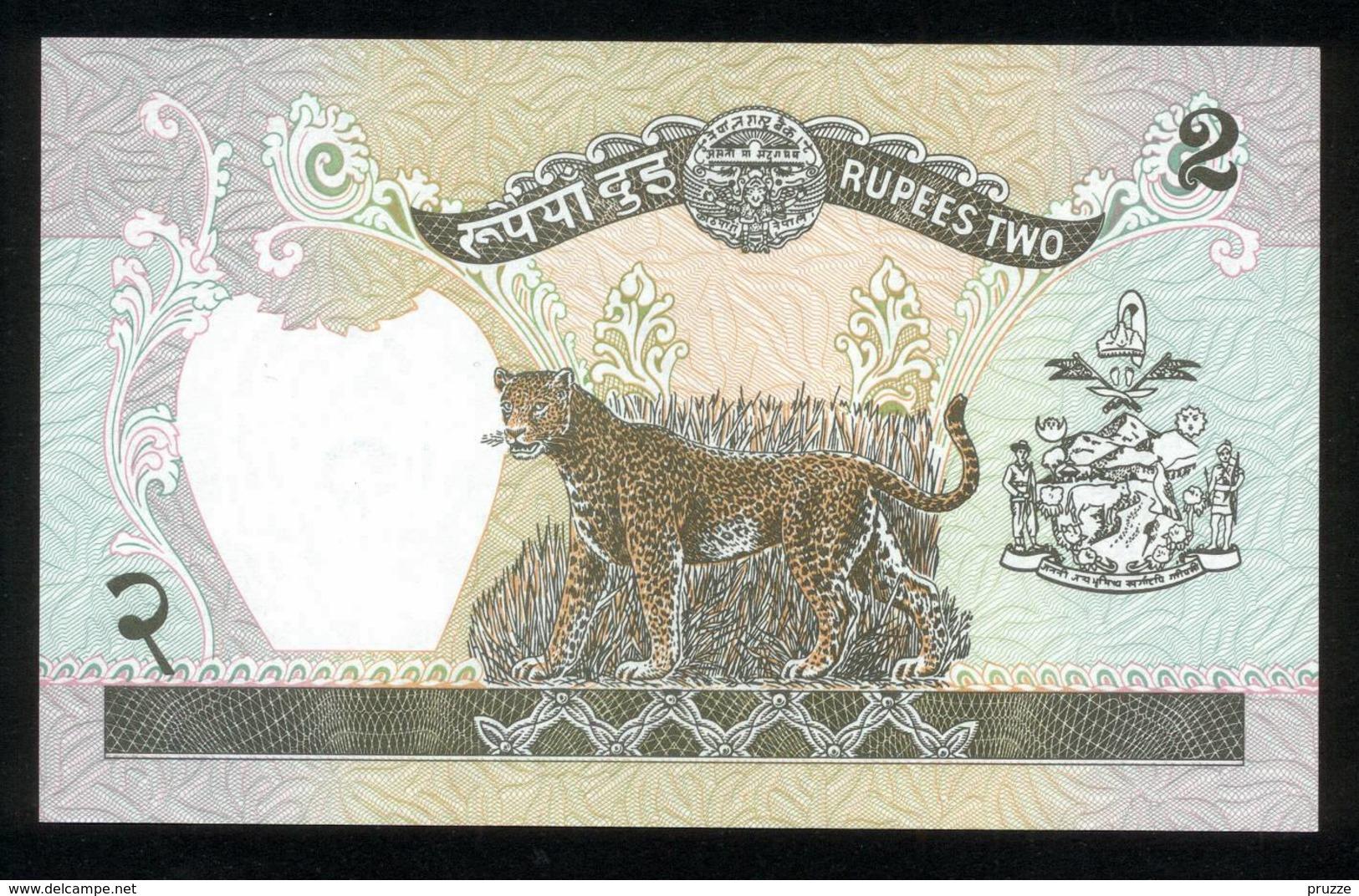 Nepal, 2 Rupees - UNC, Kassenfrisch - Nepal