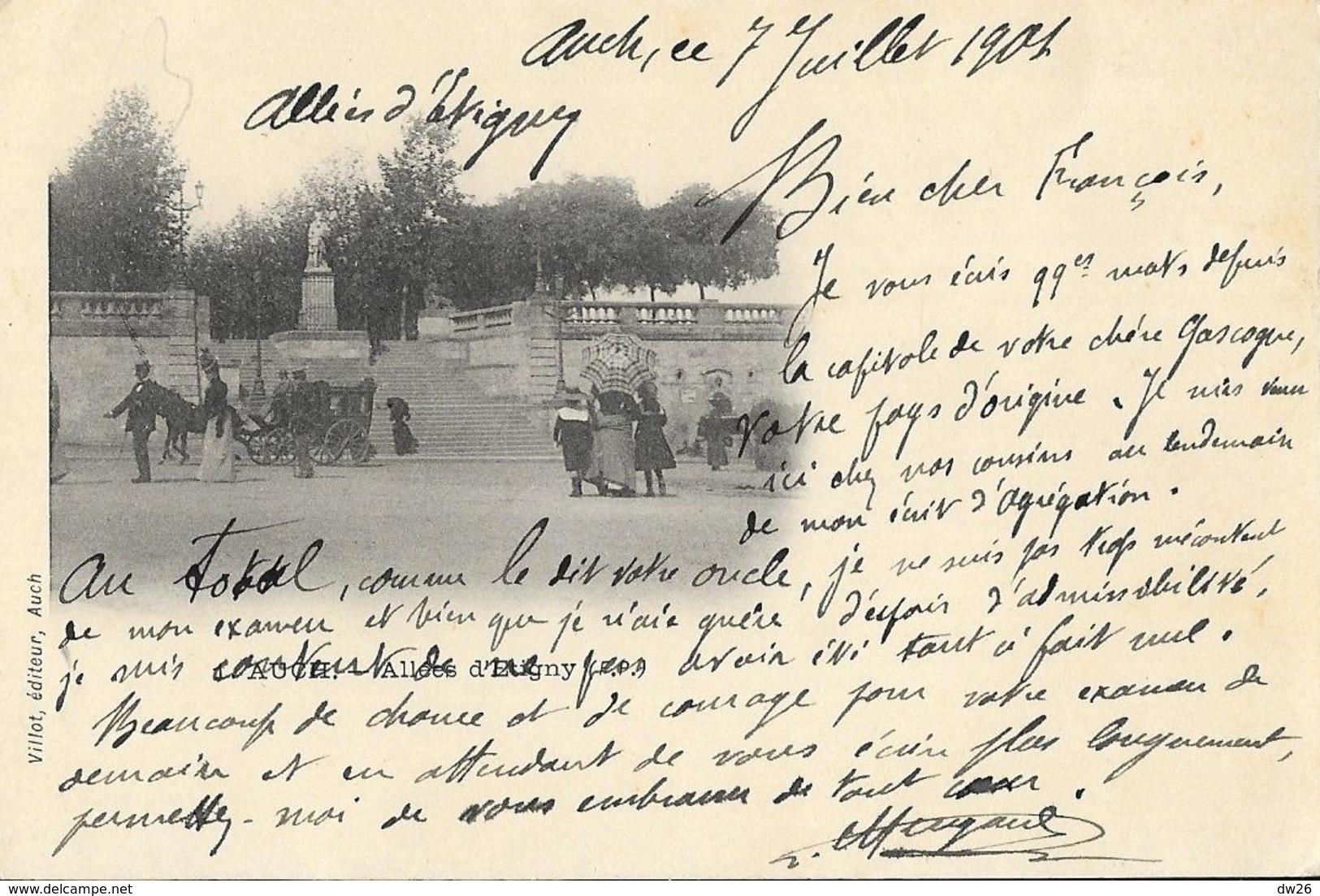 Auch (Gers) - Allée D'Etigny - Edition Villot - Carte Dos Simple - Auch