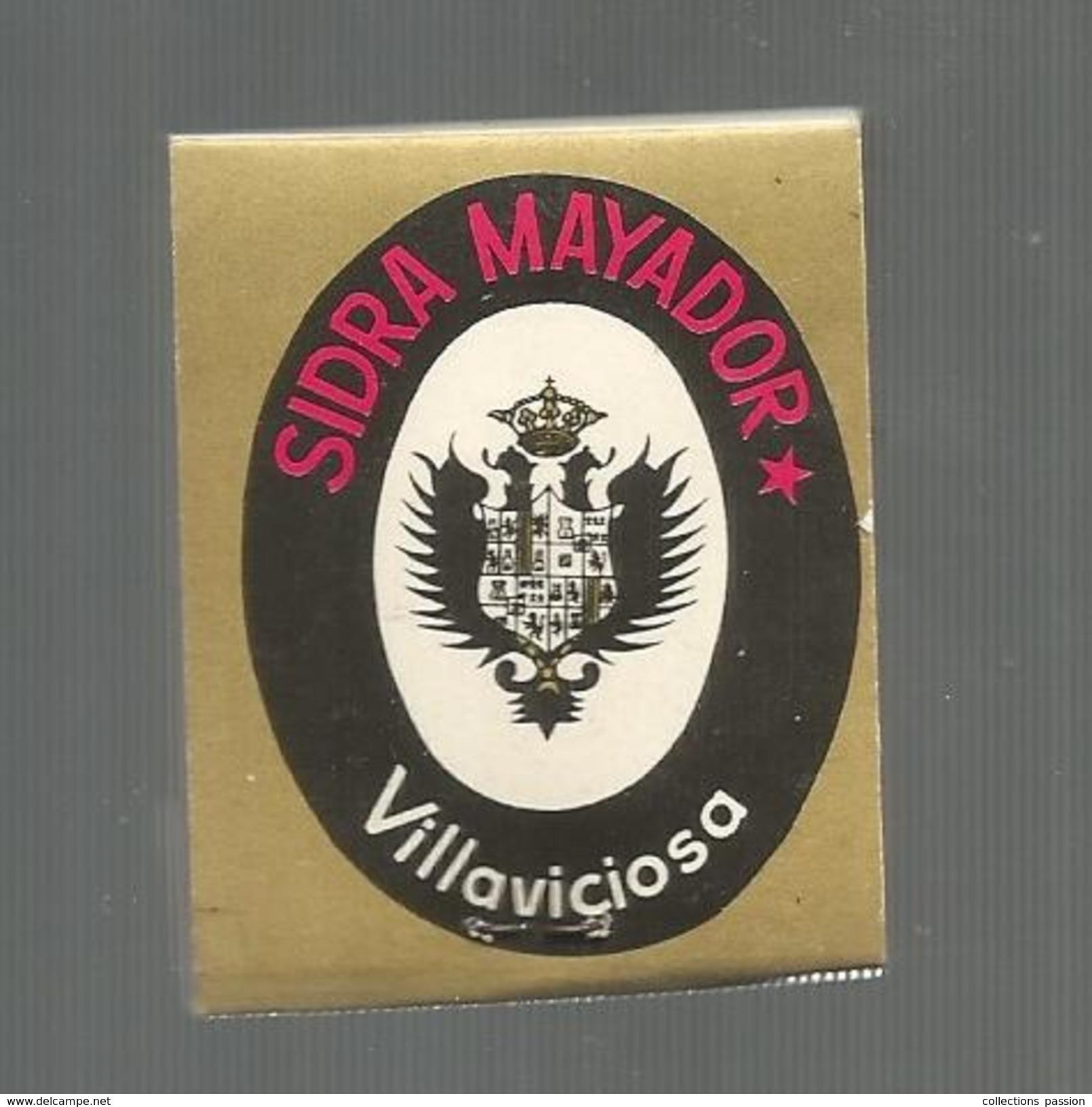 G-I-E , Tabac , Boite, Pochette D'ALLUMETTES, 2 Scans, Publicité, Sidra MAYADOR, Villaviciosa , Asturias , Espagne - Zündholzschachteletiketten