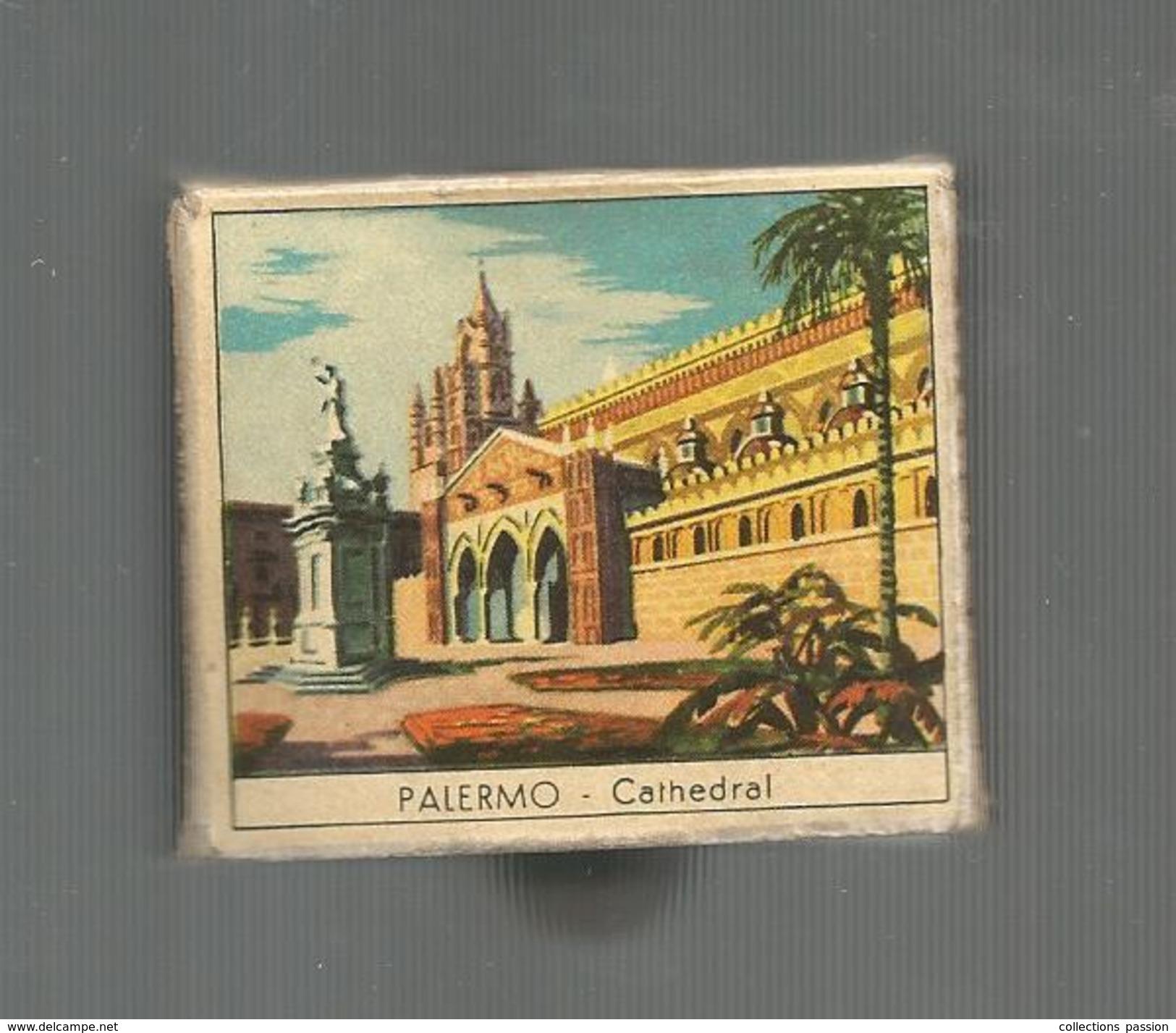 G-I-E , Tabac , Boite D'ALLUMETTES, 2 Scans, Publicité, Italie , Sicile , PALERMO , Cathedral, Italian Folklore - Matchbox Labels