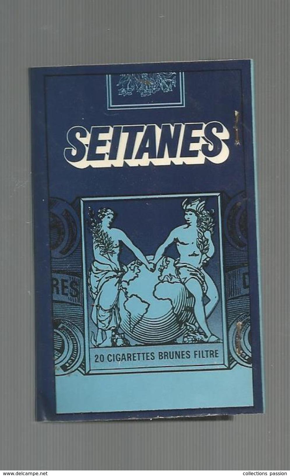 G-I-E , Tabac , Boite, Pochette D'ALLUMETTES, 2 Scans, Publicité, Cigarettes SEITANES , 8 X 5 - Matchbox Labels