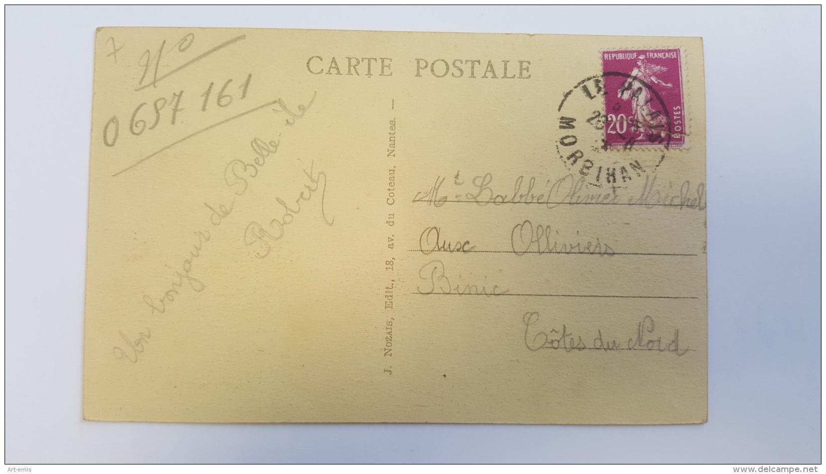 BELLE ILE EN MER 56 LE VALLON DE BORTIFAOUENNE BORCASTEL MORBIHAN CPA Animee Postcard - Belle Ile En Mer