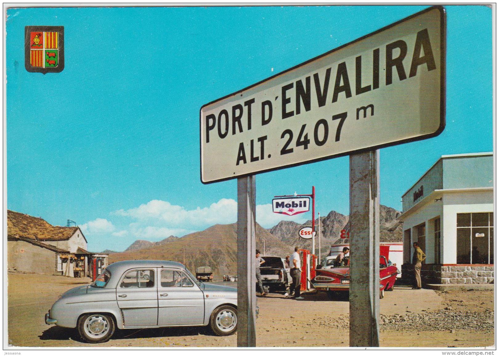 AK -Andorra -  PORT D´ENVALIRA - MOBIL TANKSTELLE Mit Renault - Andorra