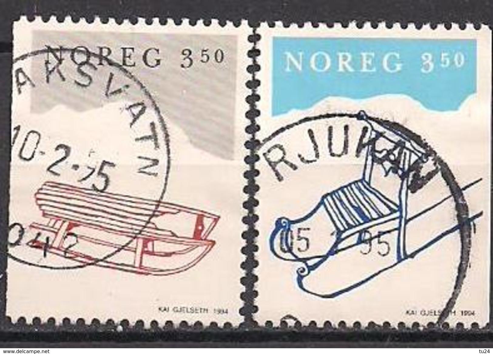 Norwegen  (1994)  Mi.Nr.  1170 + 1171  Gest. / Used  (3ff12) - Gebraucht