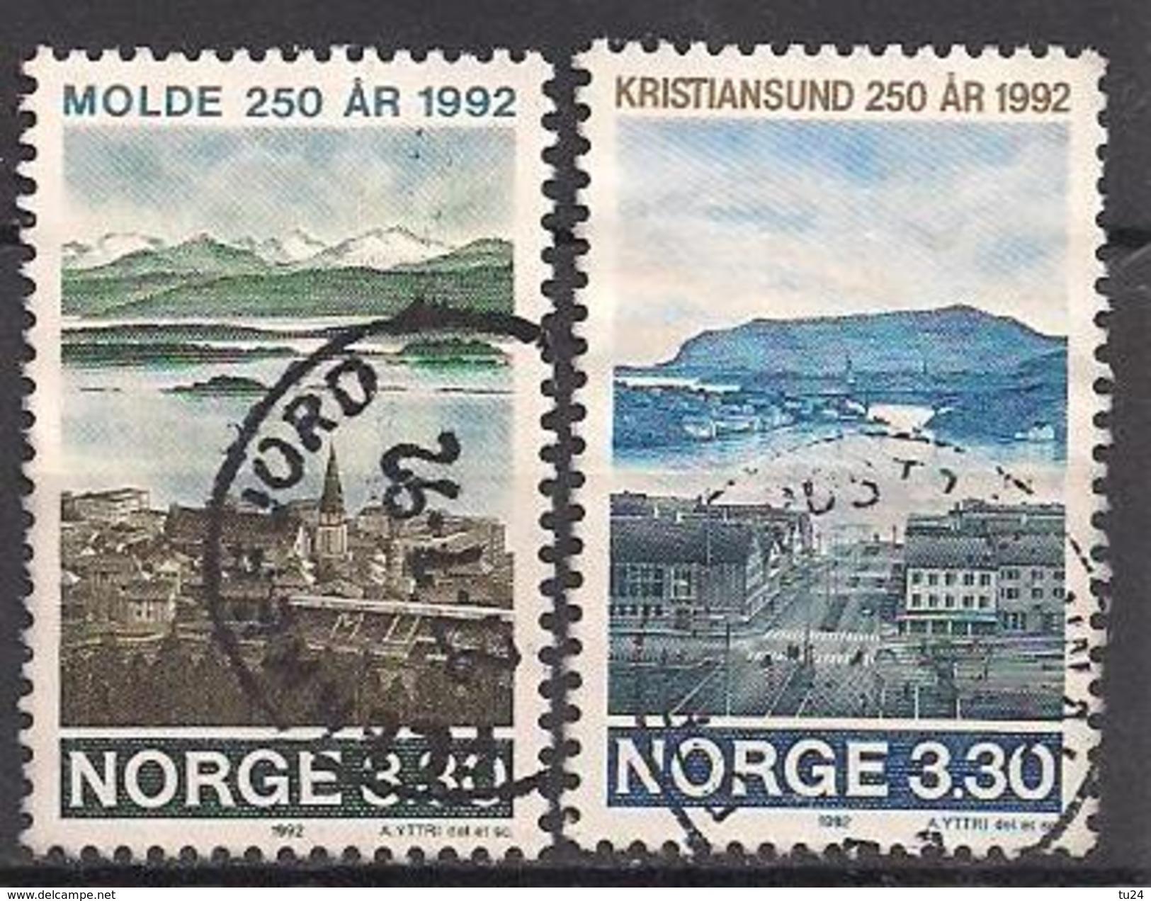 Norwegen  (1992)  Mi.Nr.  1098 + 1099  Gest. / Used  (3ff20) - Gebraucht