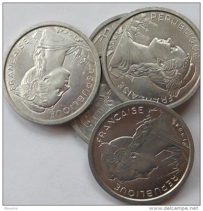 Réunion Reunion 1 Franc 1964 Km 6.1 UNC (prix Pour Une Pièce) - Réunion