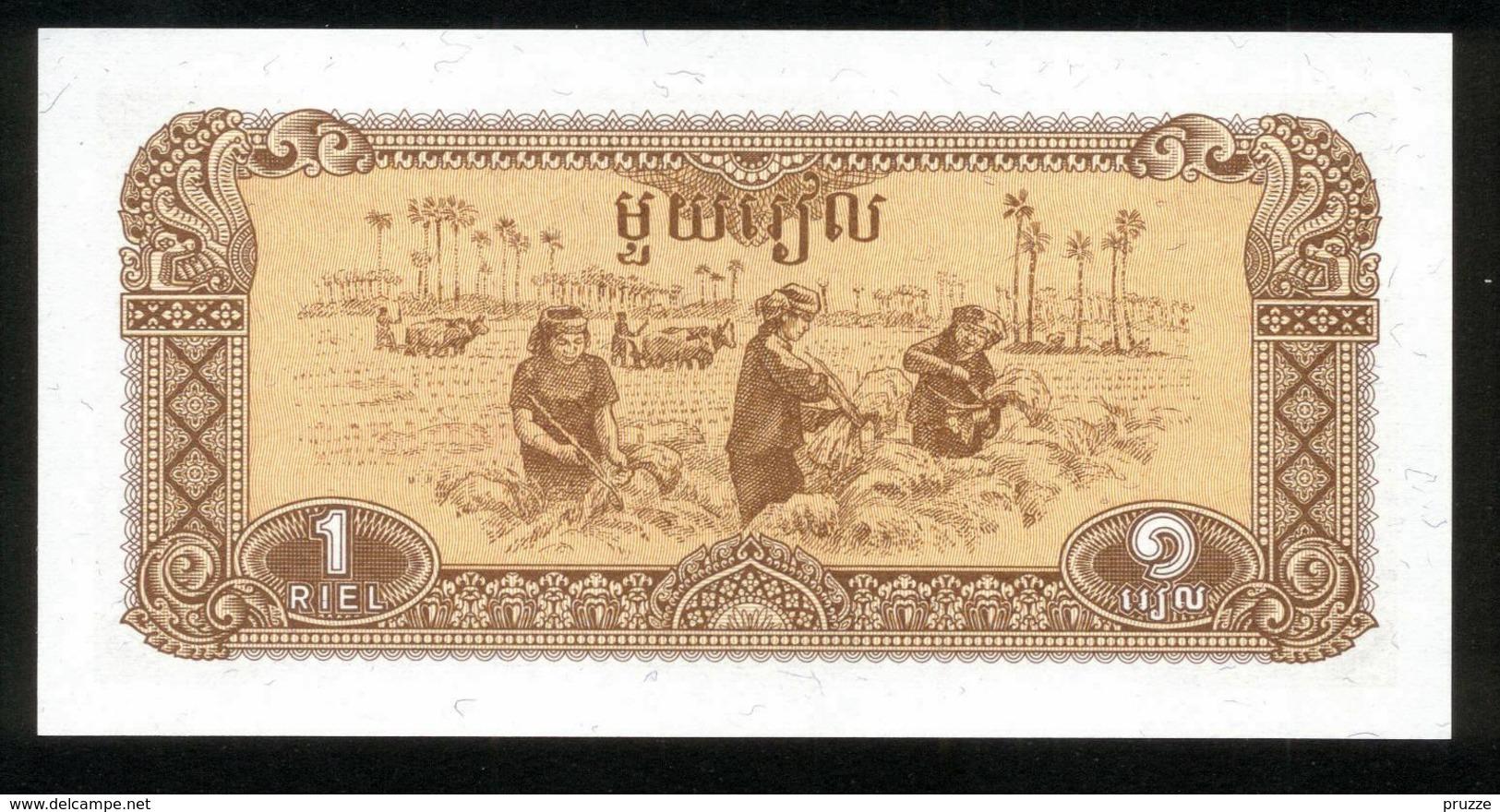 Kambodscha 1979, 1 Riel - UNC, Kassenfrisch - Kambodscha