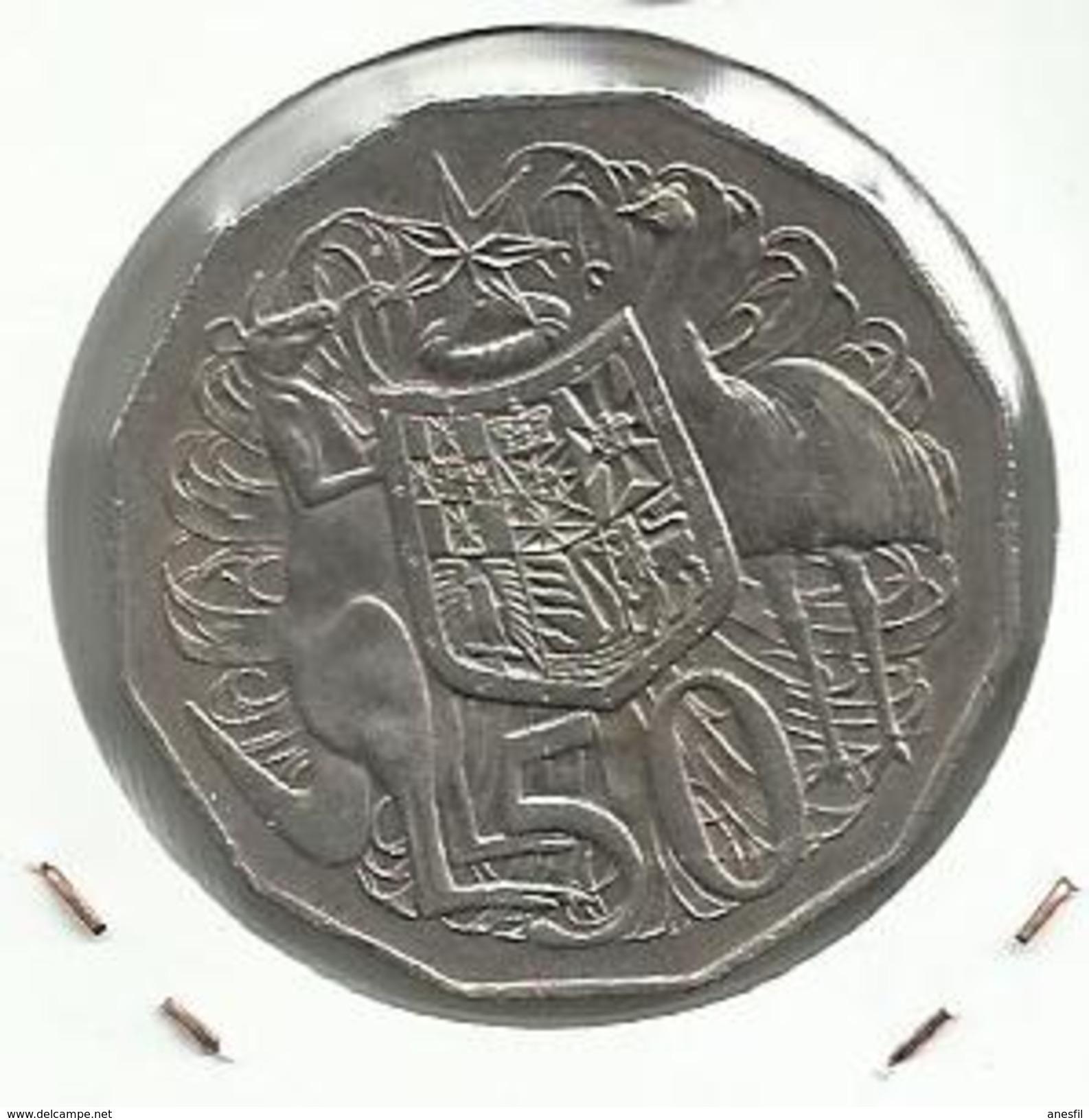 Australia_1971_50 Centimos - Moneda Decimale (1966-...)