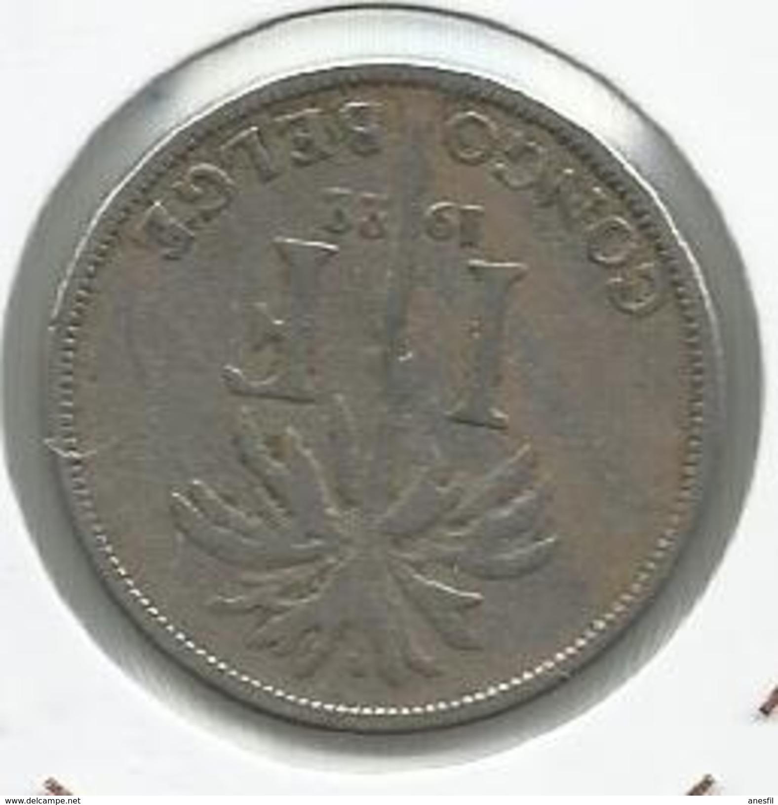 Congo Belga_1922_1 Franco - 1910-1934: Albert I