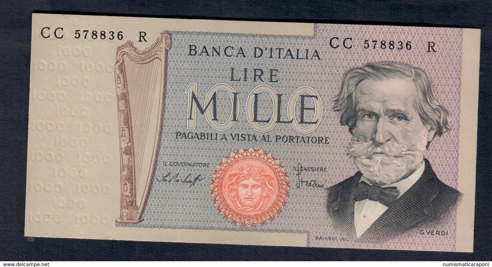1000 LIRE Verdi II° Tipo 1977 Fds  LOTTO 168 - [ 2] 1946-… : République