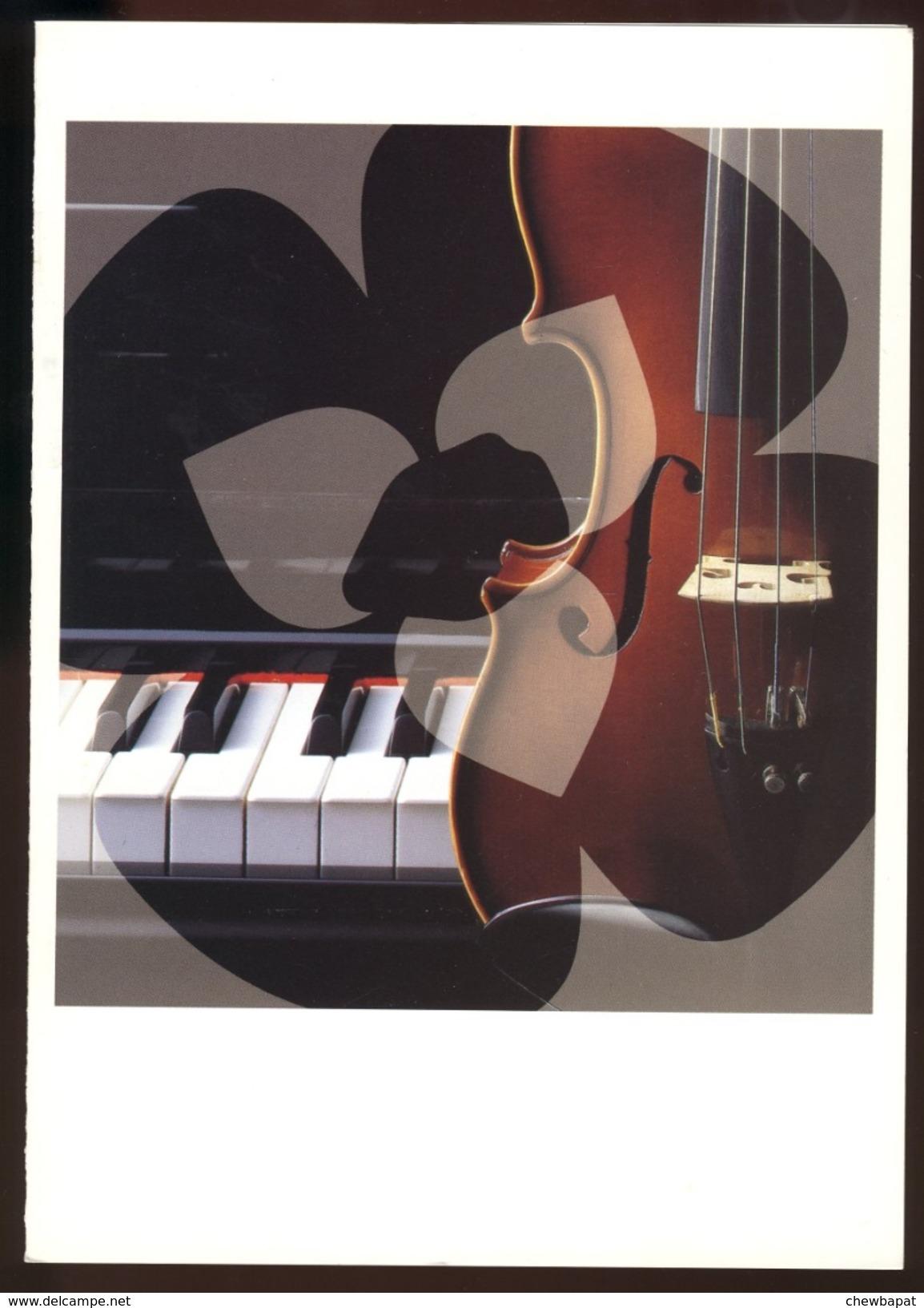 Carte Neuve 15 X 21 Cm - Musique - Conseil Régional D'Ile De France - Ansichtskarten
