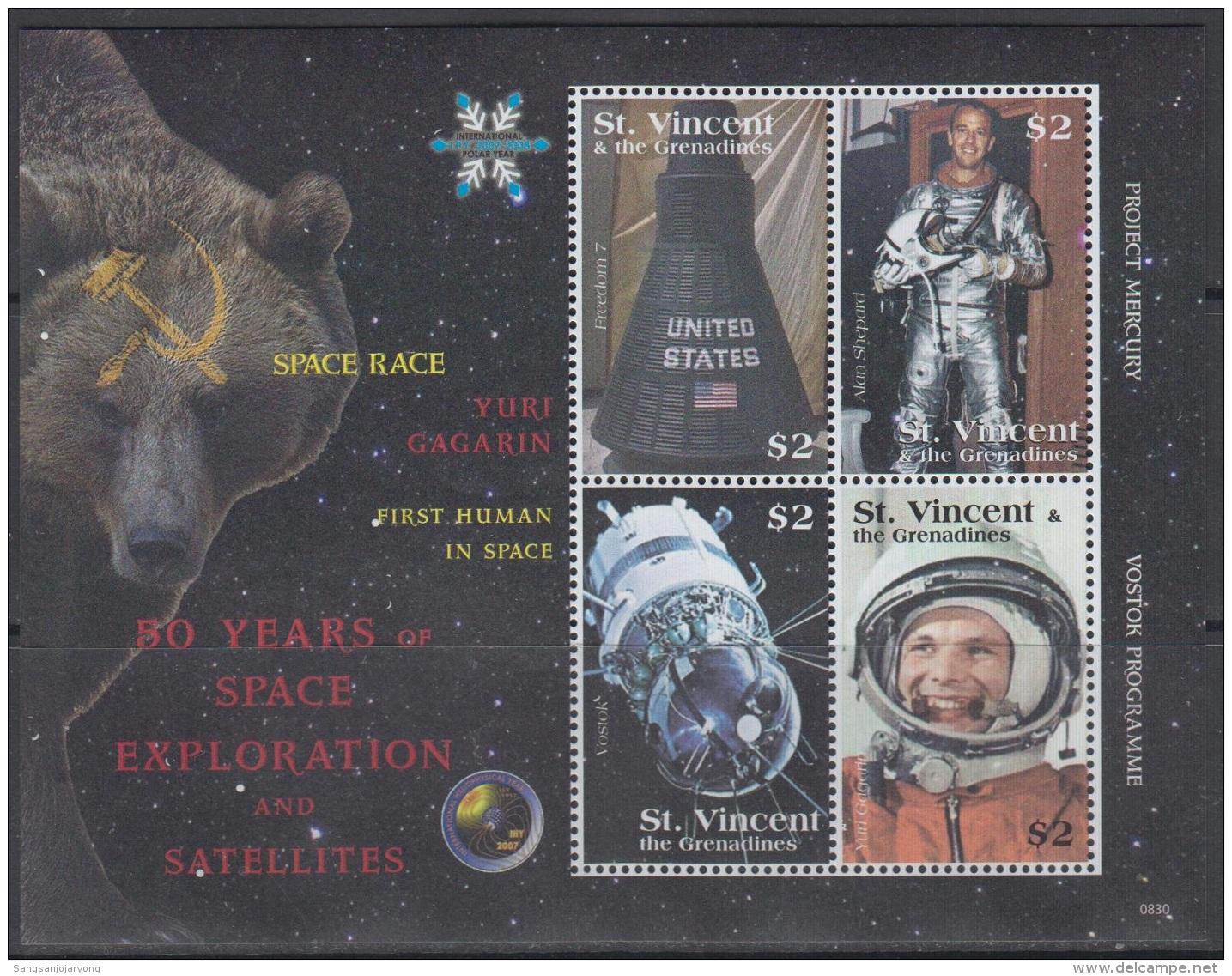 Sheet II, St. Vincent Sc3643 Space Exploration, Astronaut Yuri Gagarin, Espace, Astronaute - Space
