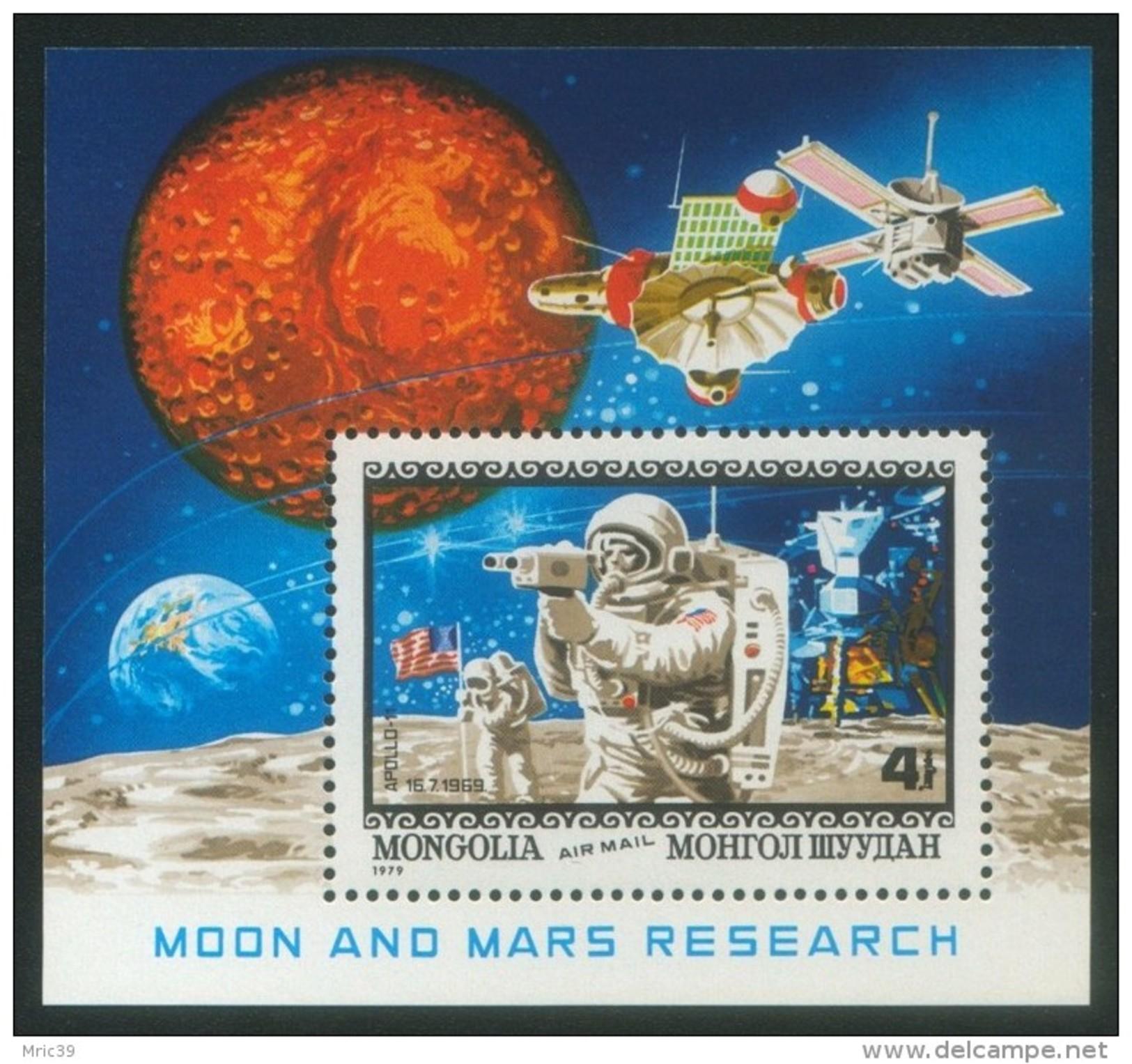 Bloc Sheet Espace Space  Neuf ** MNH   Mongolie Mongolia  1979 - Space