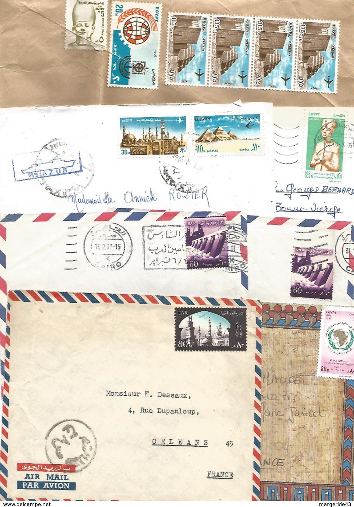 EGYPTE LOT DE LETTRES ET CARTES DIVERSES - Lots & Kiloware (mixtures) - Max. 999 Stamps