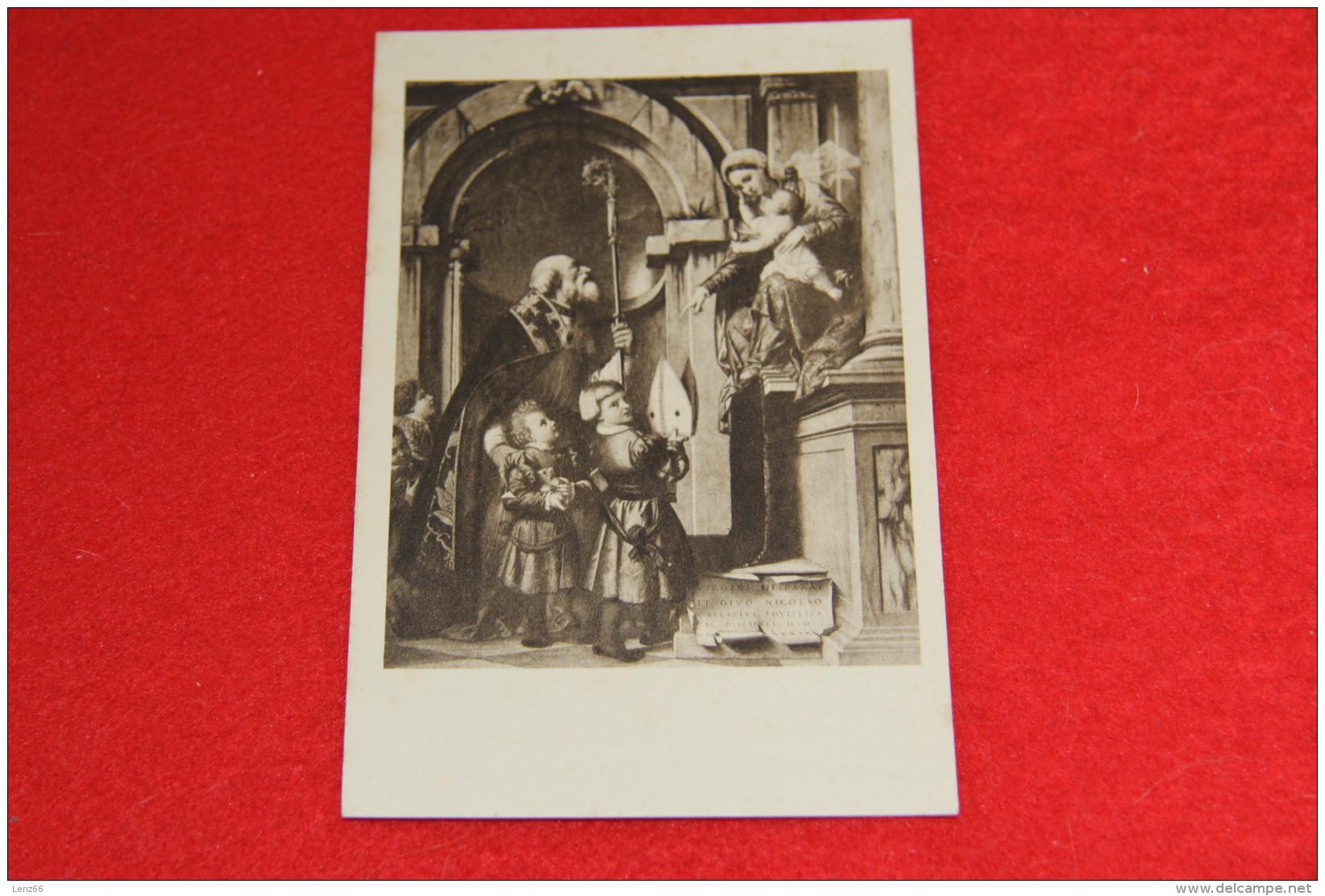 Brescia Pinacoteca Tosio Martinengo Ed. Bottega D' Arte - S. Nicolò Di Bari E La Vergine - Brescia