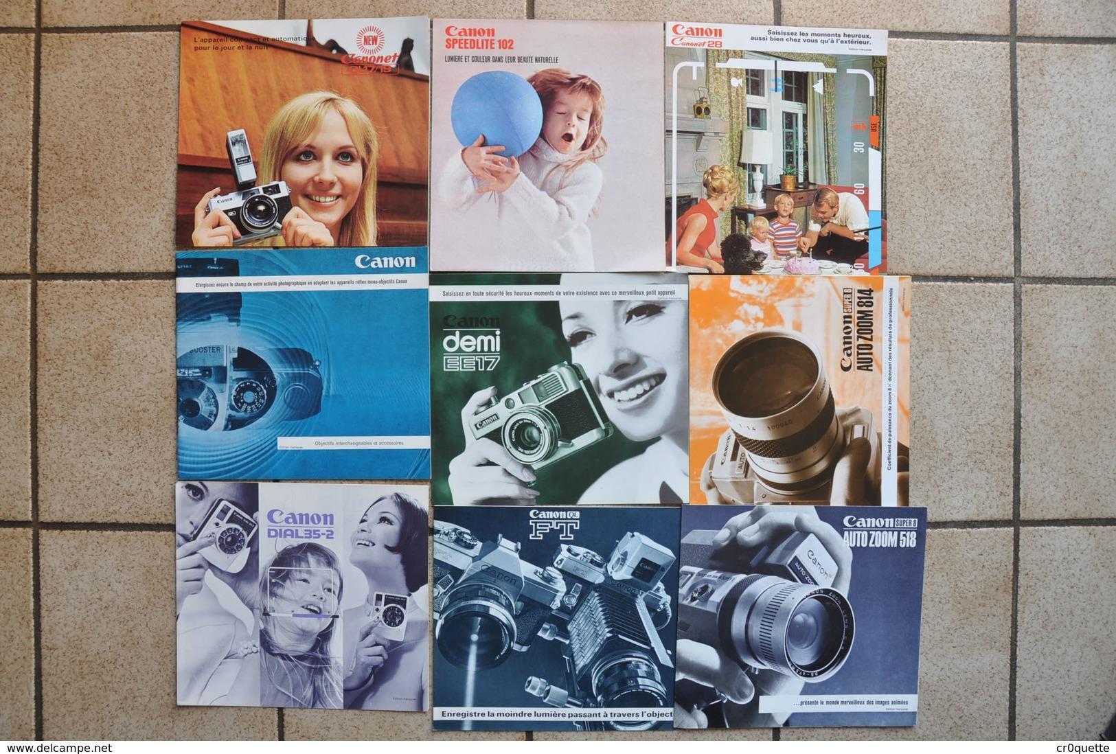 LOT DE 9 PUBLICITES CANON  ANNEES 1970 - Advertising