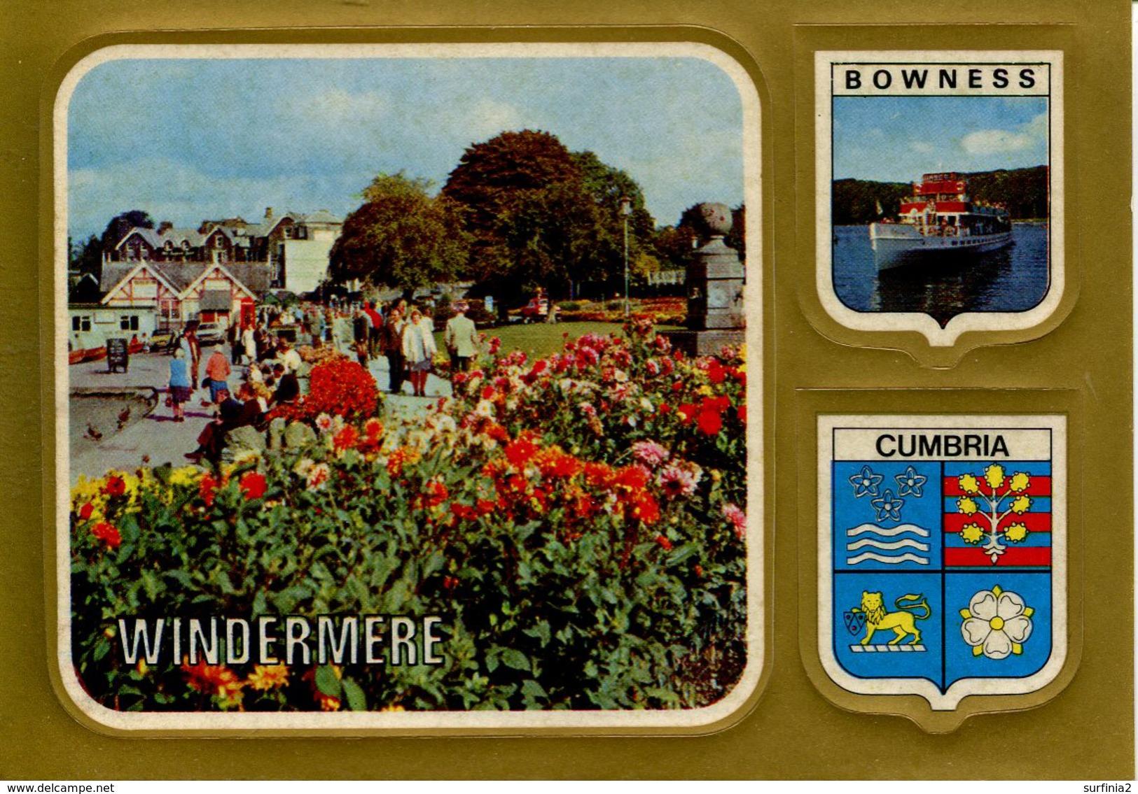 CUMBRIA - WINDERMERE - WITH 2 PEEL OFF STICKERS  Nov234 - Cumberland/ Westmorland