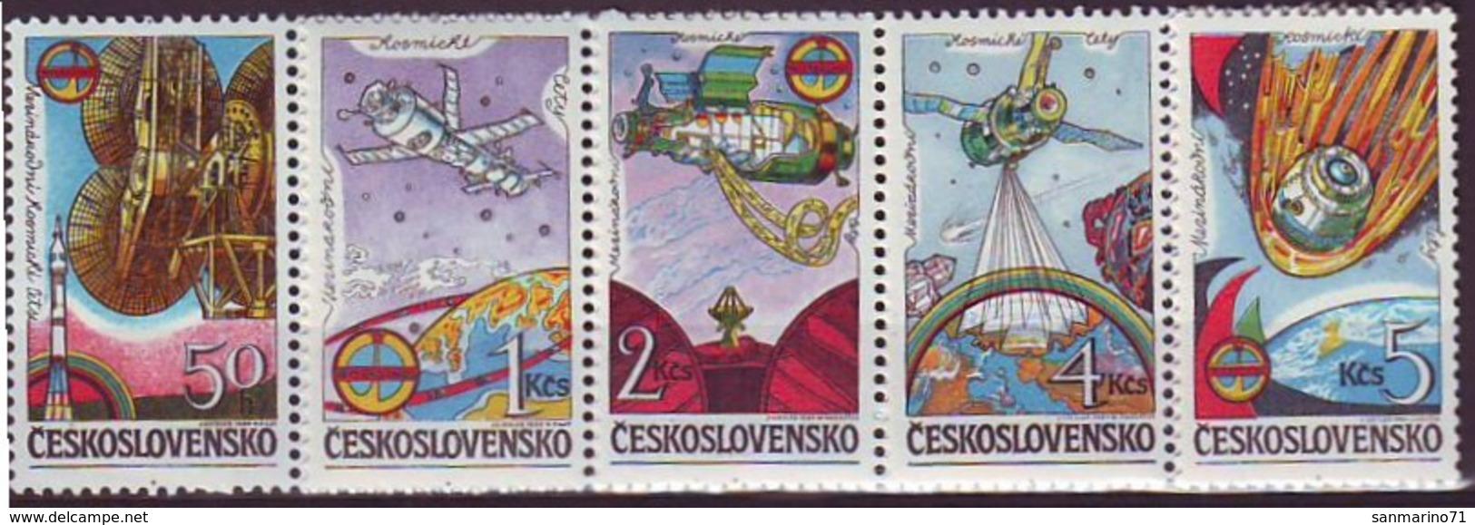 CZECHOSLOVAKIA 2758-2762,unused,space - Space