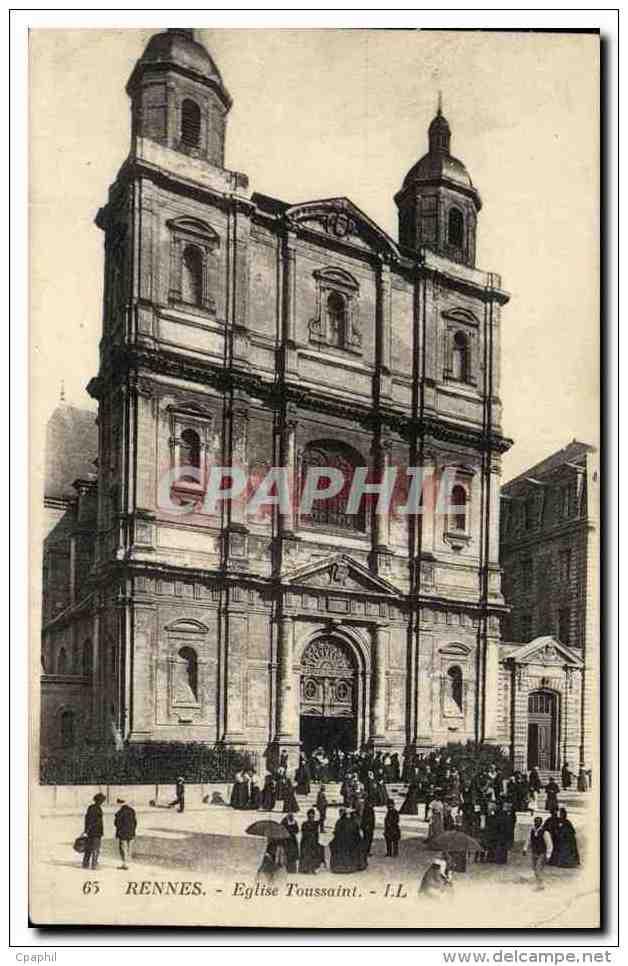 CPA Rennes Eglise Toussaint - Rennes