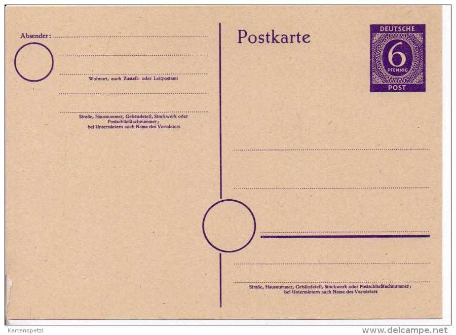 3494/ Besatzung Gemeinschaftsausgaben Ganzsache P 951a Ungebraucht/ * - Zona AAS