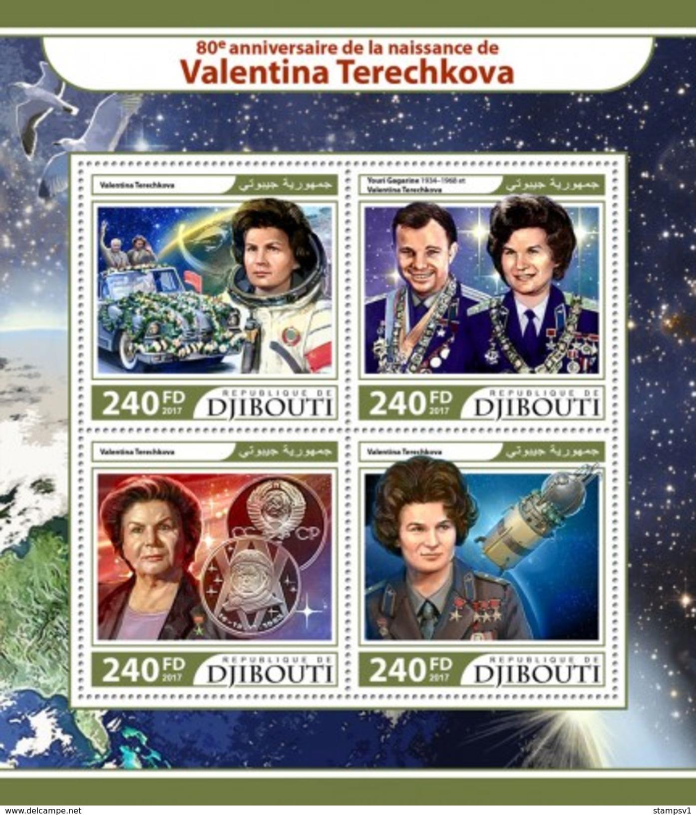 Djibouti. 2017 Valentina Tereshkova. (218a) - Space