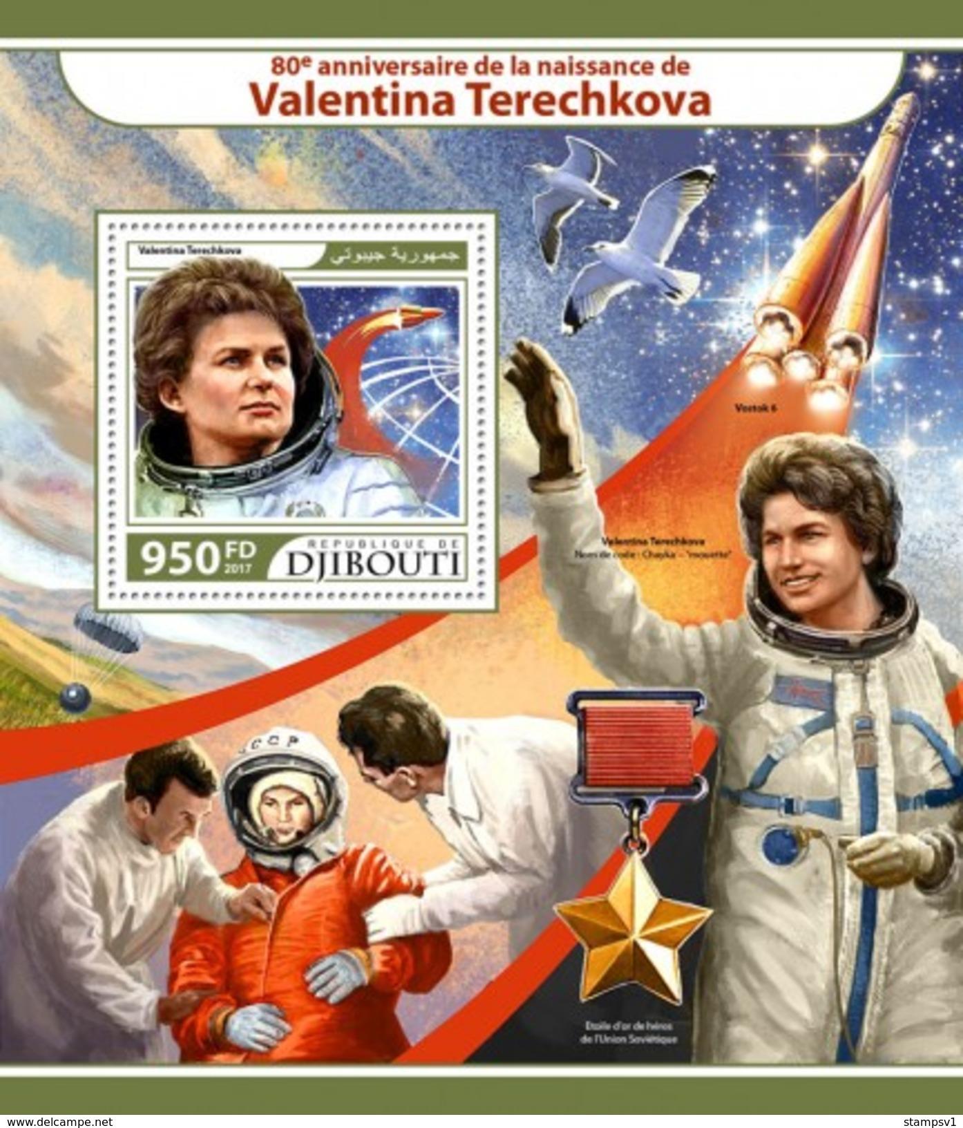 Djibouti. 2017 Valentina Tereshkova. (218b) - Space