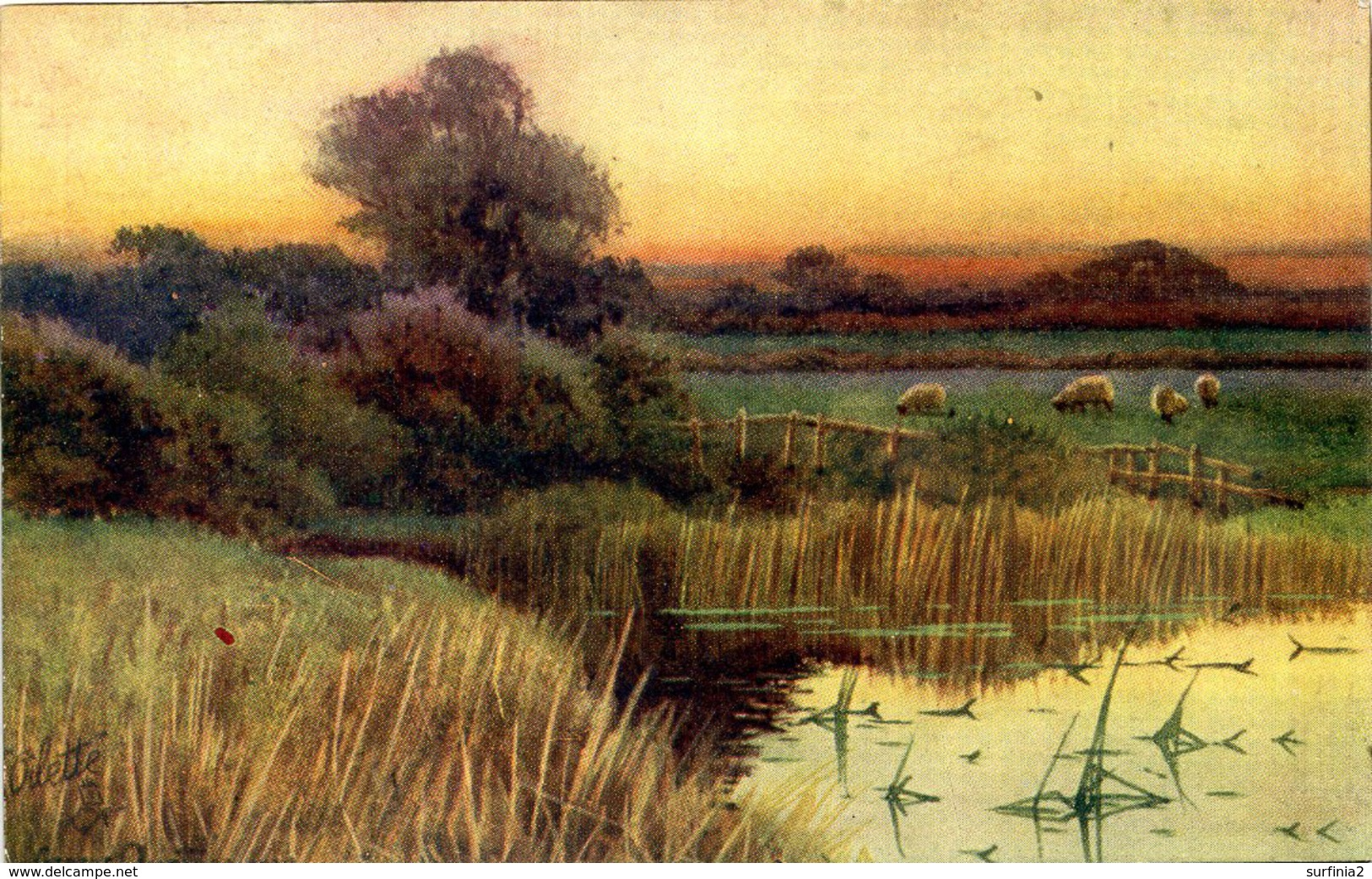 TUCKS OILETTE 2887 - THE BLUSH OF EVE - GEORGE OYSTON #1 - Paintings