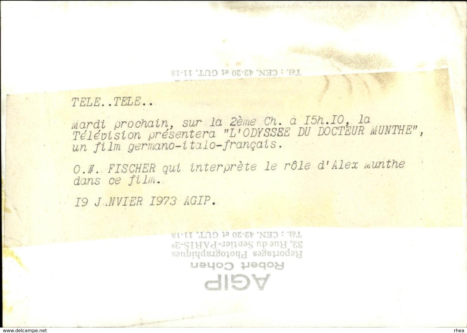 PHOTO - Photo De Presse - Acteurs - O.W FISCHER - 1973 - Célébrités