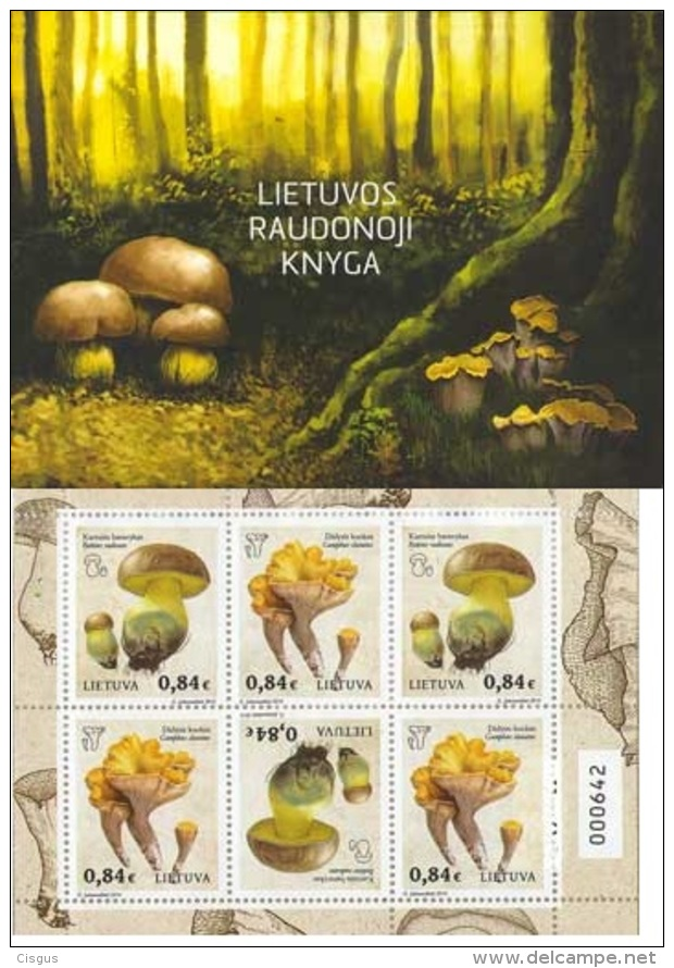 Lietuva Litauen 2016 MNH ** Mi. Nr.  1211-1212 Mushrooms Booklet - Lithuania