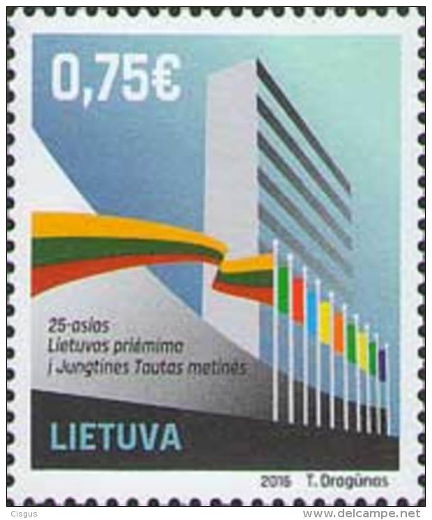 Lietuva Litauen 2016 MNH ** Mi. Nr.  1224 25th Anniversary Of Lithuania In UNO - Lithuania