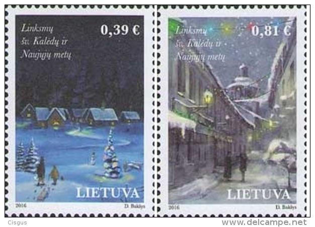 Lietuva Litauen 2016 MNH ** Mi. Nr.  1232-1233 Christmas - Lithuania