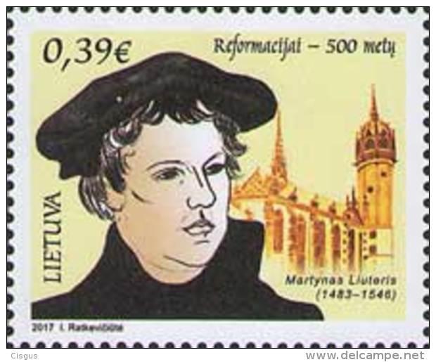 Lietuva Litauen 2017 MNH ** Mi. Nr.  1234 500 Y Reformation Martin Luther - Lithuania