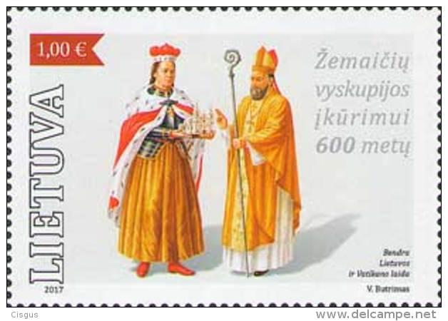 Lietuva Litauen 2017 MNH ** Mi. Nr.  1242 Samogitian Diocese - Lithuania
