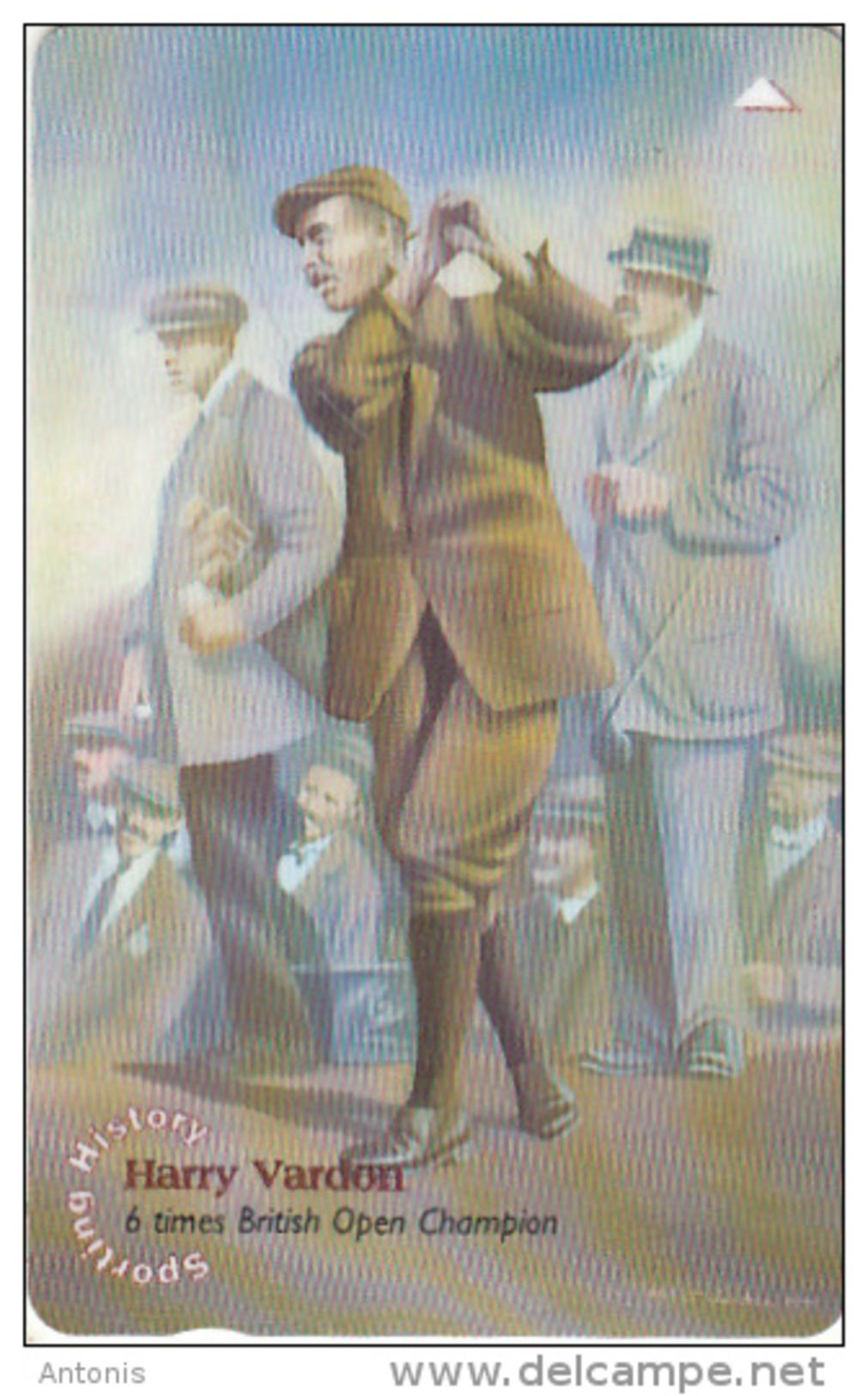 JERSEY ISL. - Sporting History/Harry Vardon, CN : 69JERD(normal 0), Tirage %45000, Used - United Kingdom