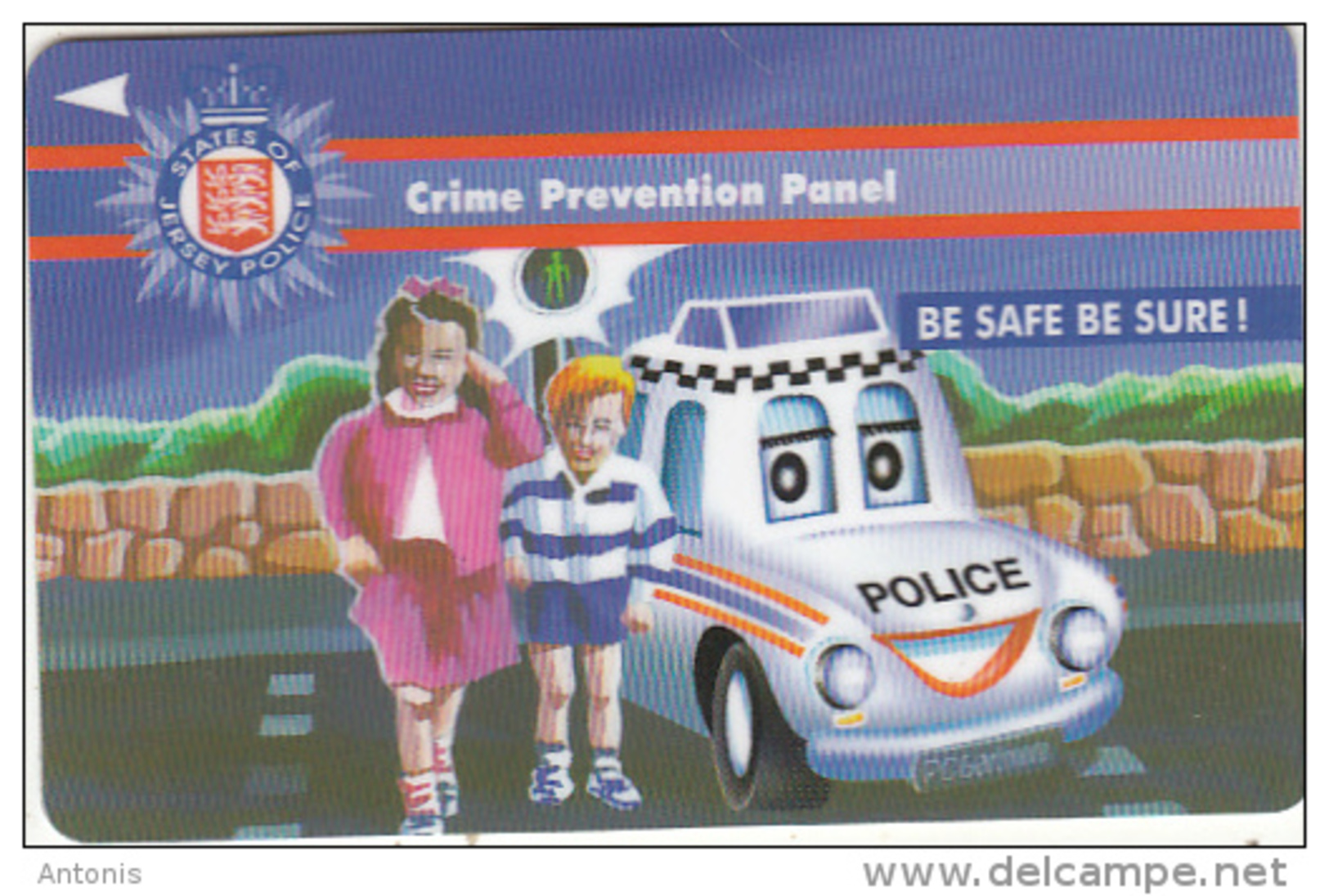 JERSEY ISL.(GPT) - Police/Crime Prevention Panel, CN : 41JERA(normal 0), Tirage %19300, Used - United Kingdom