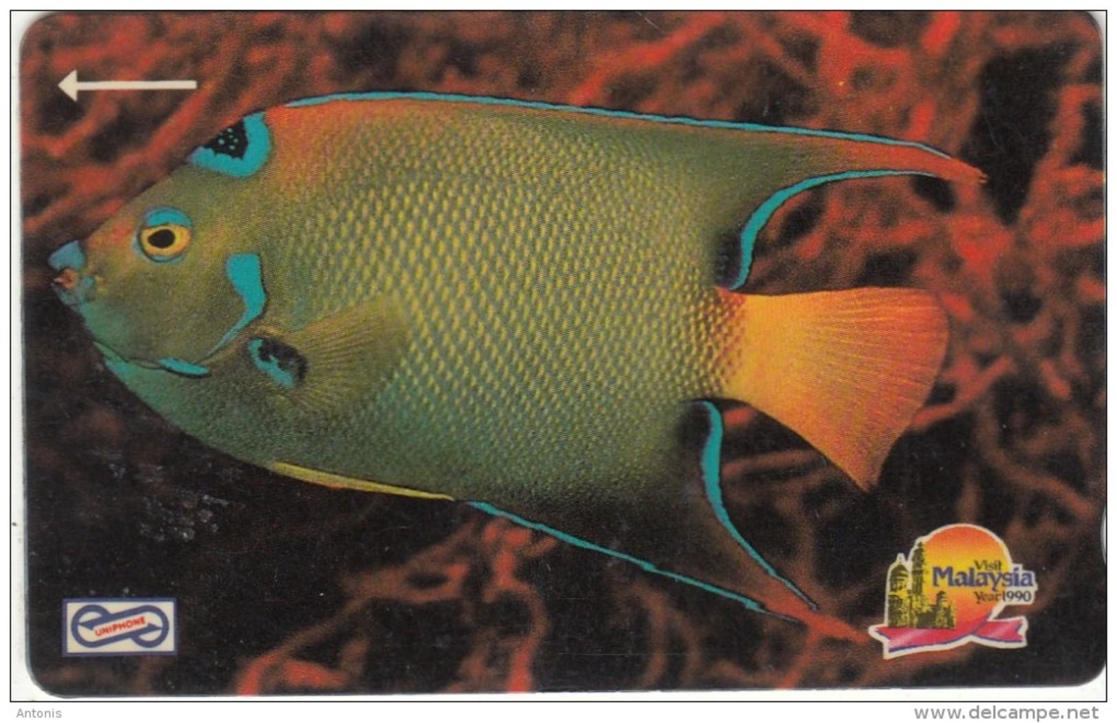 MALAYSIA(GPT) - Blue Fish, CN : 19MSAA/B, Used - Malaysia