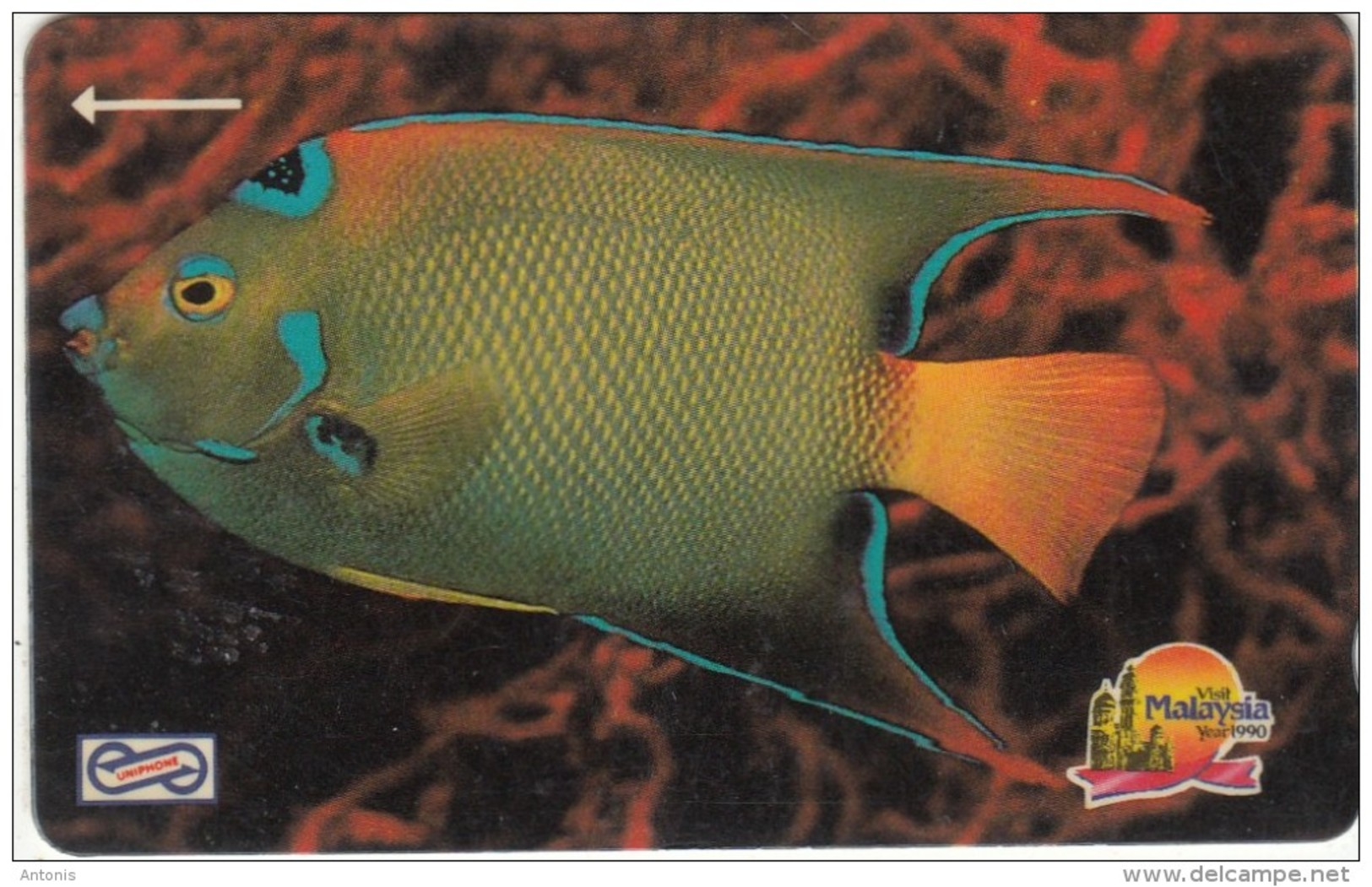 MALAYSIA(GPT) - Blue Fish, CN : 15MSAA/B, Used - Malaysia