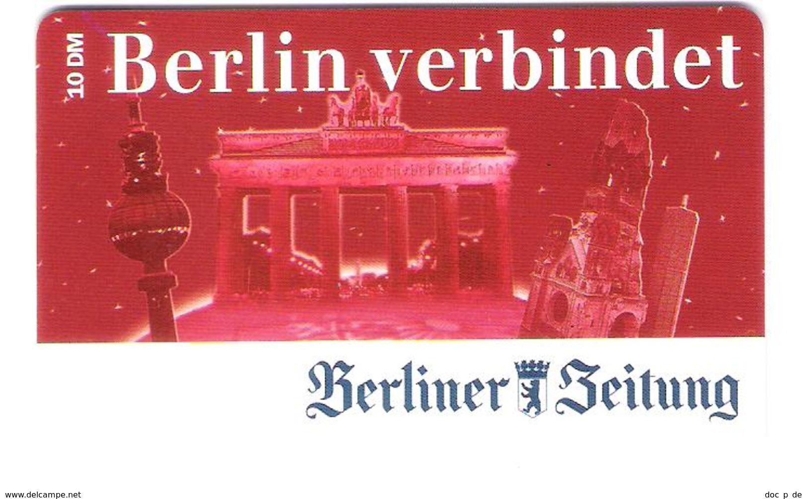 Germany - Prepaid - ABCom - Berliner Zeitung - Newspaper - Berlin - Fernsehturm - Brandenburger Tor - Ex. Date 08/2001 - Germany