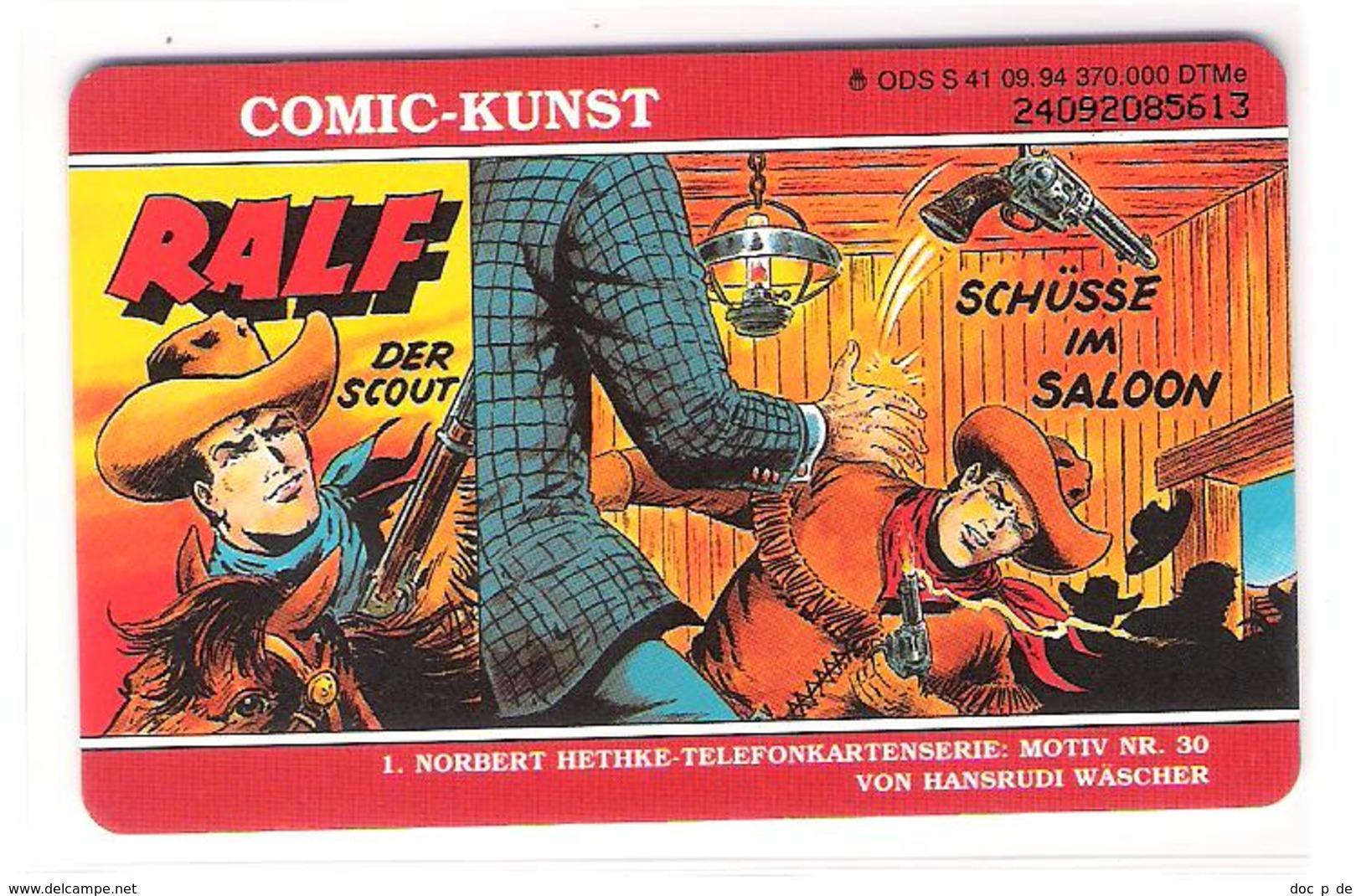 Germany - S 41/94 - Ralf Der Scout - Comic Card - Hethke - Germany