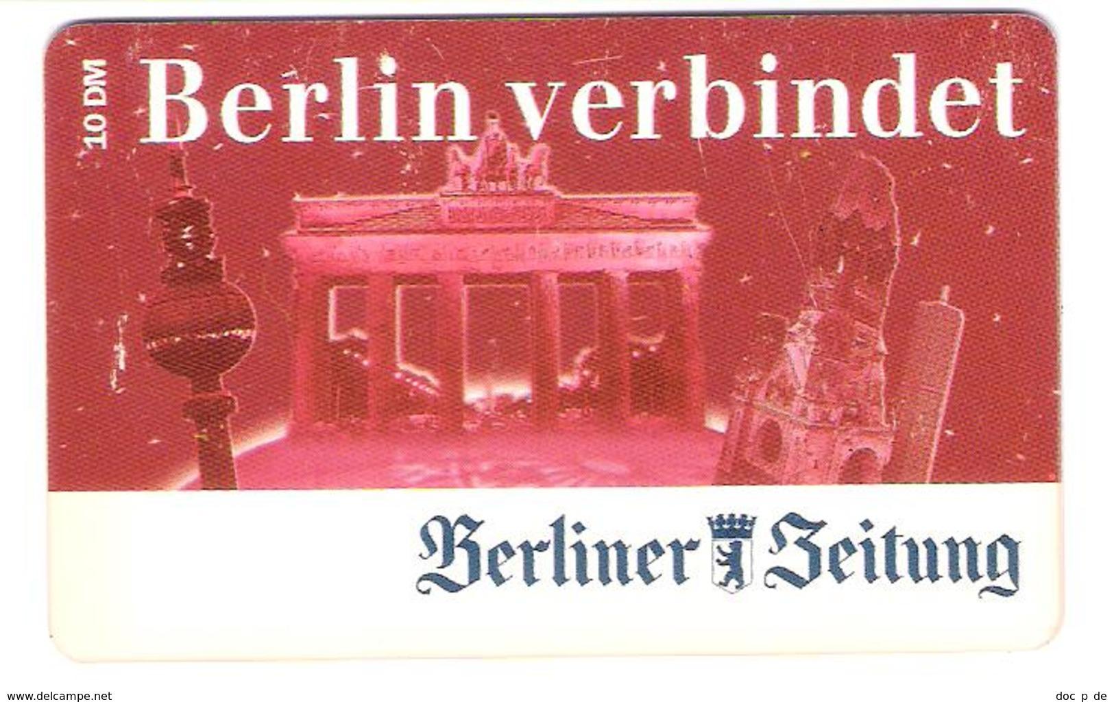 Germany - Prepaid - ABCom - Berliner Zeitung - Newspaper - Berlin - Fernsehturm - Brandenburger Tor - Ex. Date 05/2001 - Germany