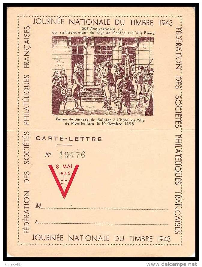 4801/ France Lettre (cover) Journée Du Timbre 1943 Libération 8 Mai 1945 - Marcophilie (Lettres)
