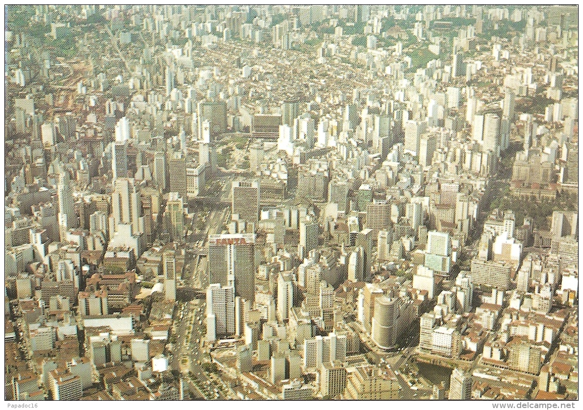 BR - São Paulo - Vista Aérea Do Centro - Brasil Turistico N° 50 (circ. 1994) - [aerial View / Vue Aérienne / Luftsicht] - São Paulo
