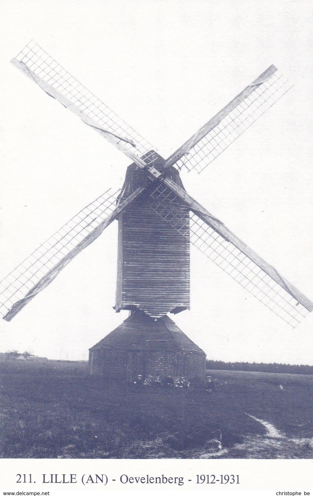 Lille, Oevelenberg Molen, Windmill, Moulin ( Herdruk Studiekring Ons Molenheem 1981) (pk34462) - Lille