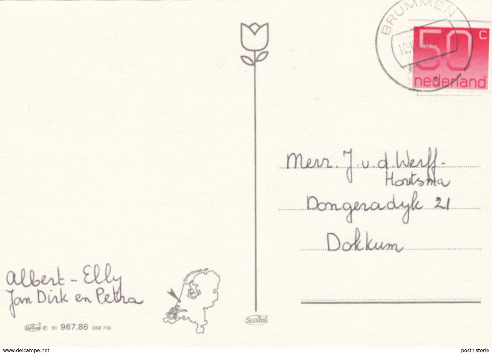 Ansicht 10 Jul 1985 Brummen (stempeltype CB) - Postal History