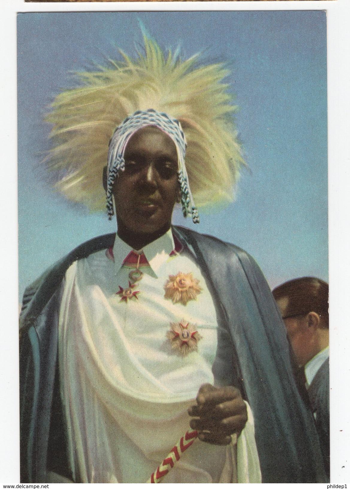 Carte Postale Illustrée Du Congo. Voyage Du Roi éte 1955. Collection Côte D'Or. Carte 4 - Brazzaville
