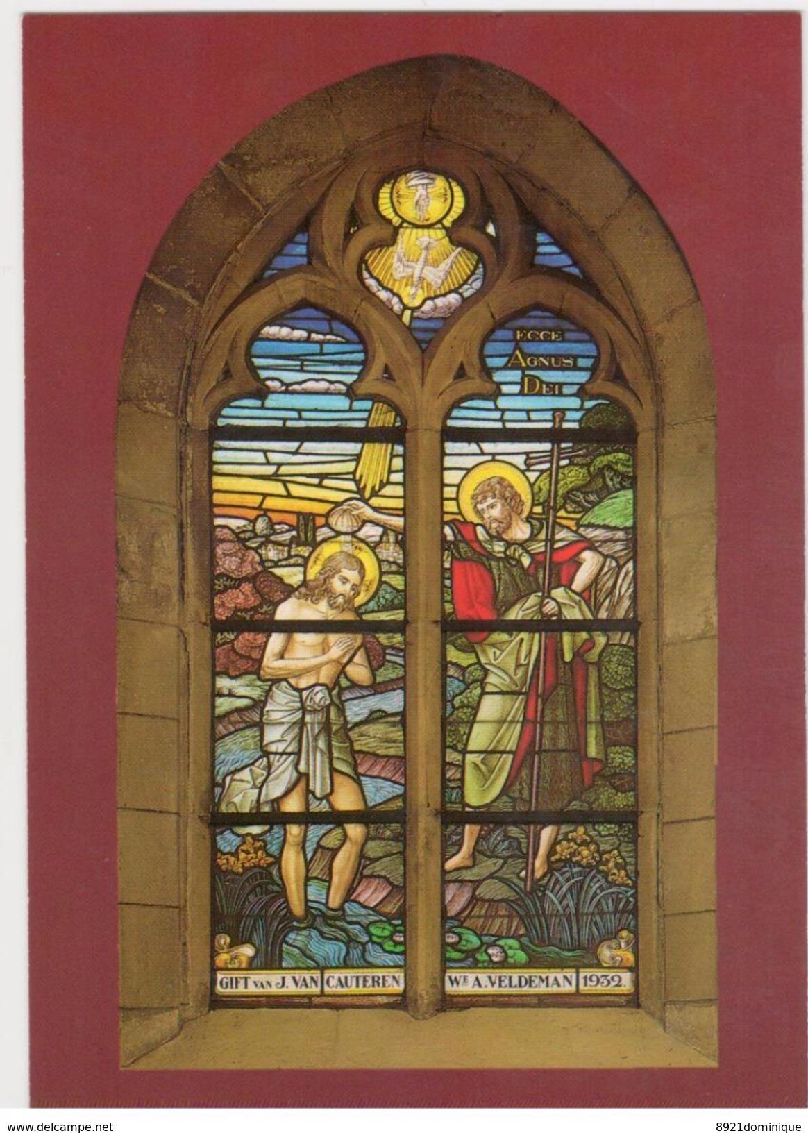 Berlare - Sint-Martinuskerk - Christus Doopsel   Door Coppejans 1932 - Berlare