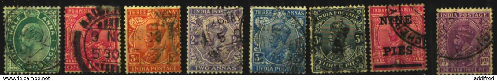 Inde Scott N°61.82.86.84.113.80.104.136..oblitérés - India (...-1947)