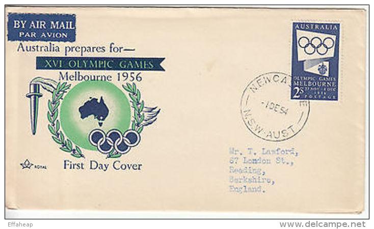 Australia: 'Australia Prepares For XVI Olympics', Newcastle-Reading, 1 Dec 1954 - Postmark Collection