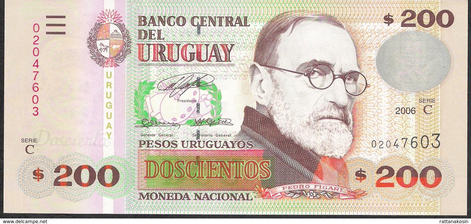 URUGUAY P89a 200 P.U.  2006 Serie C   UNC. - Uruguay