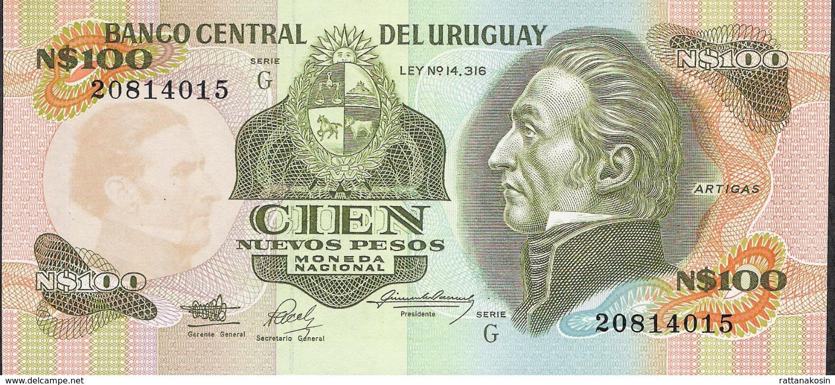 URUGUAY P62A  100 N.P.  1987 Serie G   UNC. - Uruguay